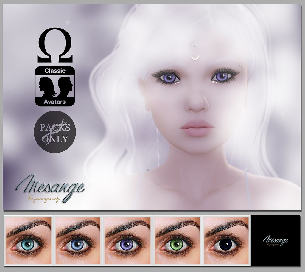 MESANGE - River Eyes mini pack for DESIGNER CIRCLE - SecondLifeHub.com