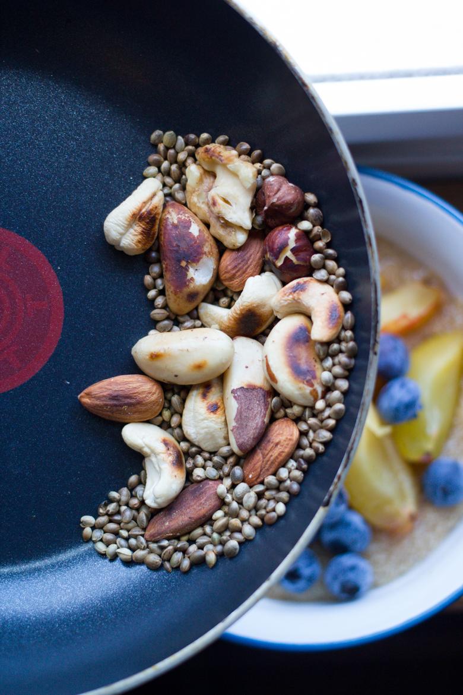 toasted hemp seeds + nuts