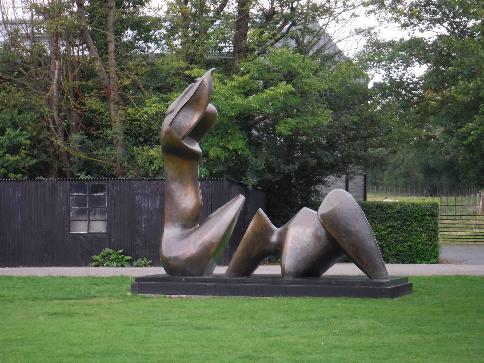 Two Piece Reclining Figure: Cut (1979-81) SWC Walk 164 Roydon to Sawbridgeworth via Henry Moore Foundation