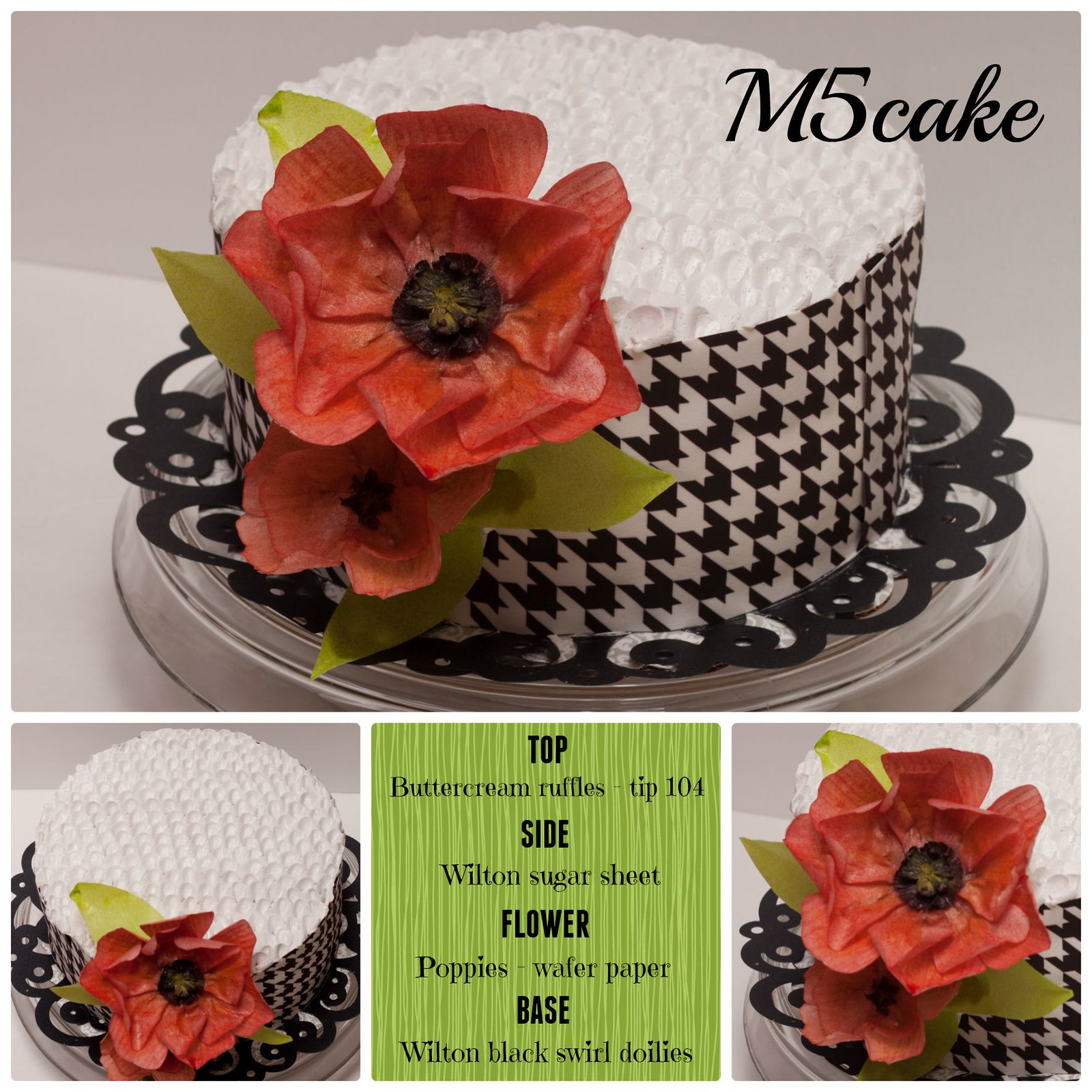 m5cake poppies and raffles