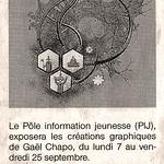 Article de Ouest-France sur l'exposition au Moulin de Blanchardeau
