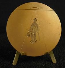 Paris Mint Chaplin medal reverse