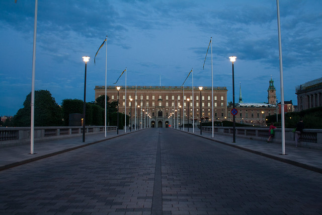 Dusk over Stockholm Palace