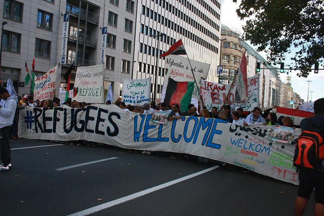 Betoging 'Refugees welcome' // Liesbeth