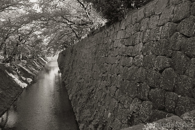 moat and stone wall