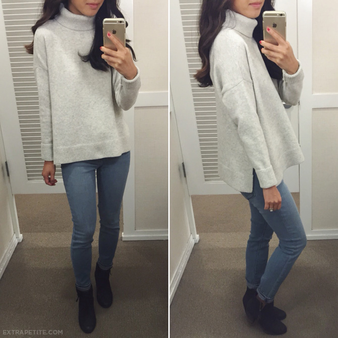 cozy turtleneck swing sweater