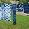And I have special plans for those bits of fabric at the end! #shibori #itajime #indigo #indigodyed #fbp