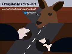 Favorite Audio #Roadtrip of 2015: A kangaroo has three ears @mikewilliams3 @RadioNational