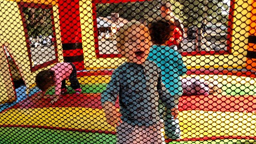 St. Paul UMC Fall Fair - Dyson on Moon Bounce