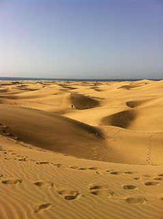 Image of Playa del Inglés near Playa del Ingles. sahara grancanaria spain desert canaries sanddunes