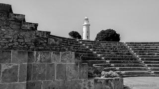 Image of Archaeological Park. lighthouse amphitheatre cyprus cy archeologicalpark paphos httptravelmemocomp10325