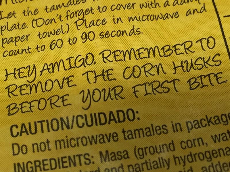 Tamale Reminder