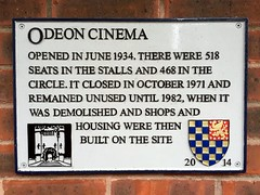 Photo of Odeon Cinema, Lewes grey plaque