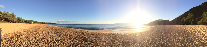Almost sunset at Makena Beach.