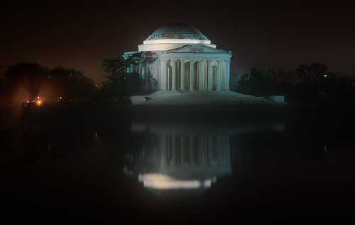 The Jefferson Memorial on a Foggy Night by Geoff Livingston