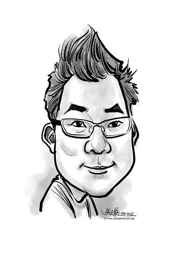 digital caricature for eBay - Yiu, Rico