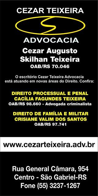 Anúncio Cezar Teixeira Advocacia - dezembro 2015