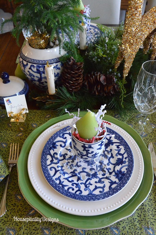 Dining Room Tablescape/Christms 2015 - Housepitality Designs