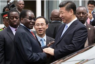 Zimbabwe and CHina Presidents