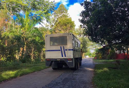topes collantes escambray guamuhaya guamuaya montañas mountains mountain montañoso guagua bus truck omnibus guarandinga