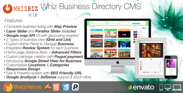 WhizBiz v1.9 – Business Directory CMS