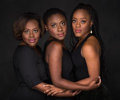 These three sisters look so strong and beautiful in this portrait- absolutely timeless!  #AJKimages