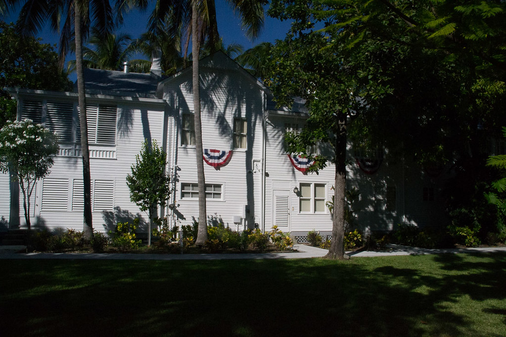 Outside the Little White House in Key West