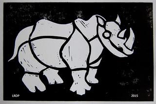 5 Durer - Block Printing - Rhino - Laura