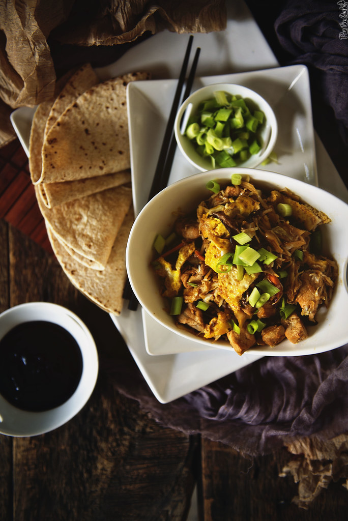 Moo Shu Pork Stir Fry a quick weeknight recipe for fake out take out \ GirlCarnivore.com