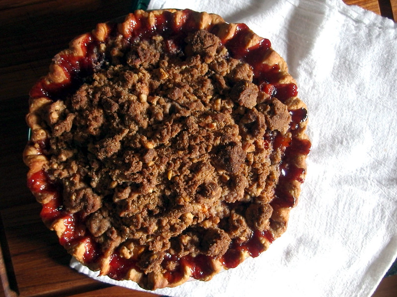 Peach-plum pie