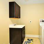 Laundry time is basically fun time with this happy, bright in-unit laundry room.