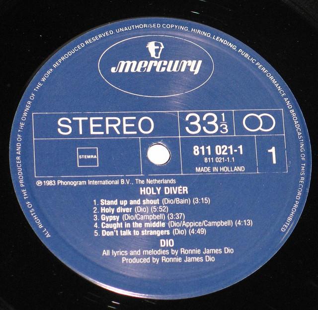 """DIO Holy Diver Debut 12"""" Vinyl LP"""
