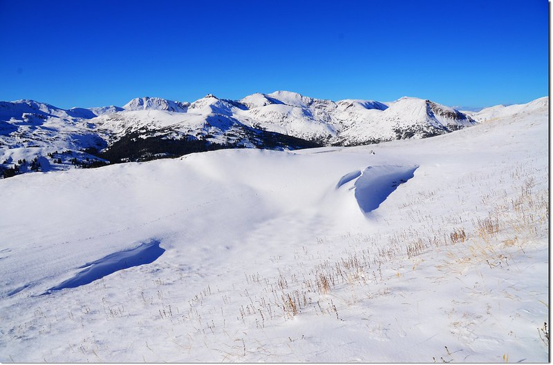 A part of the Continental Divide from above Loveland Pass