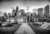 new Romare-Bearden park in uptown Charlotte North Carolina earl by DigiDreamGrafix.com