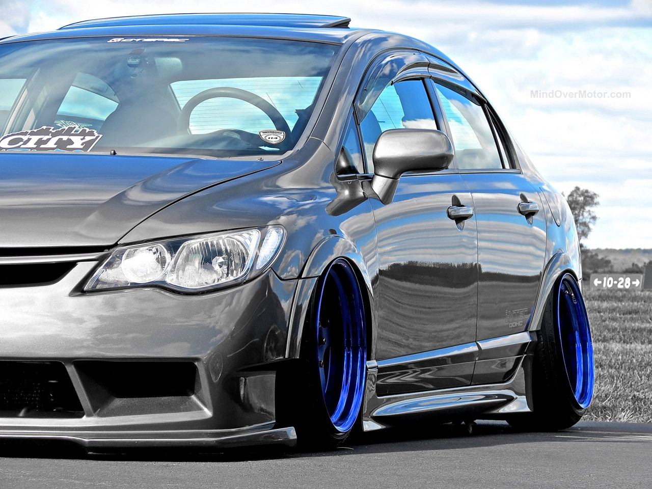 First Class Fitment Honda Civic Purple Wheels