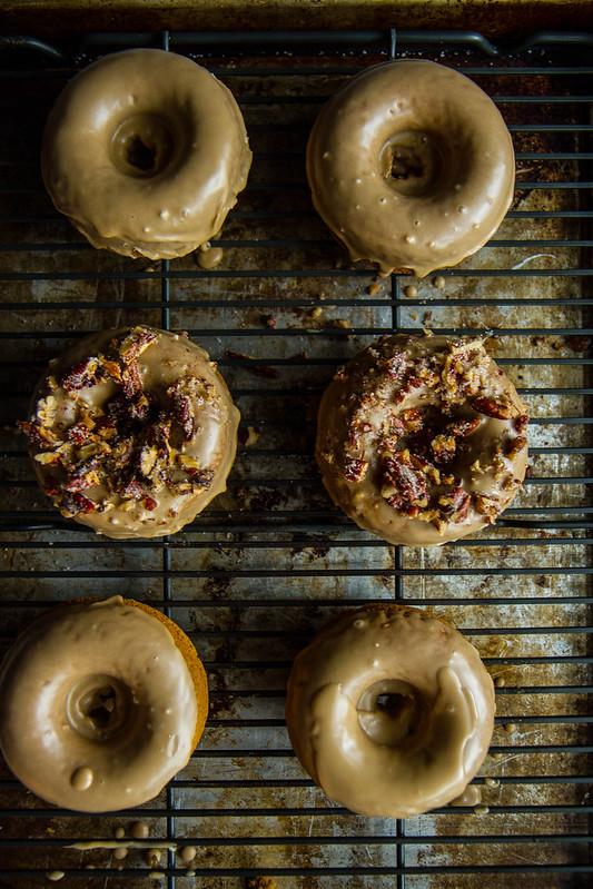gingerbread sweet potato donuts