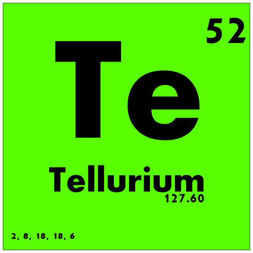 Image gallery periodic element 65 for Periodic table no 52