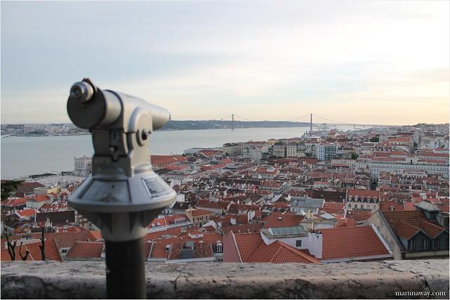 Lisbon from above. Castello di São Jorge