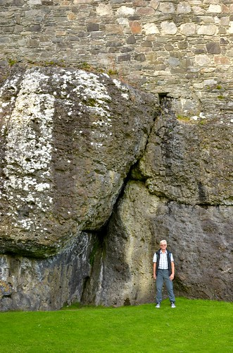 Luke at the base of Dunstaffnage Castle