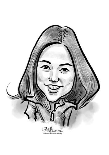 digital caricature for eBay - Ki Won Kim