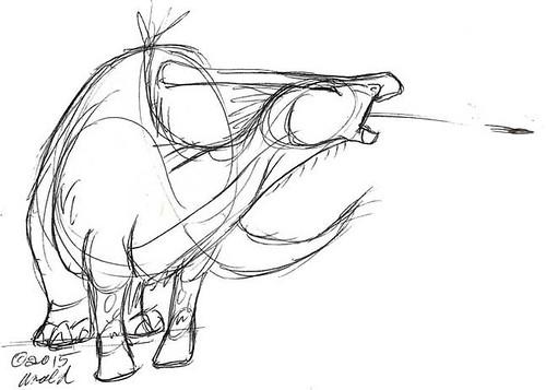Draw Dinovember 11.10.15 - P'tooie!