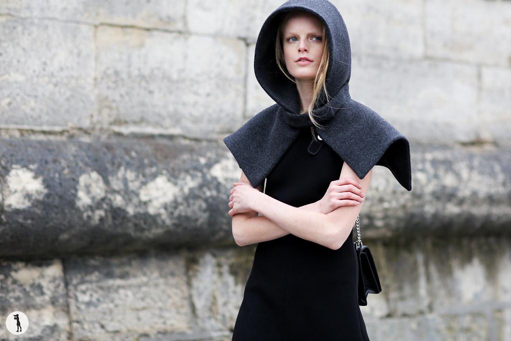 Hanne Gaby at Paris fashion week