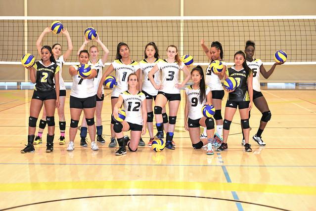 2015 - 2016 Women's Varsity Volleyball Team