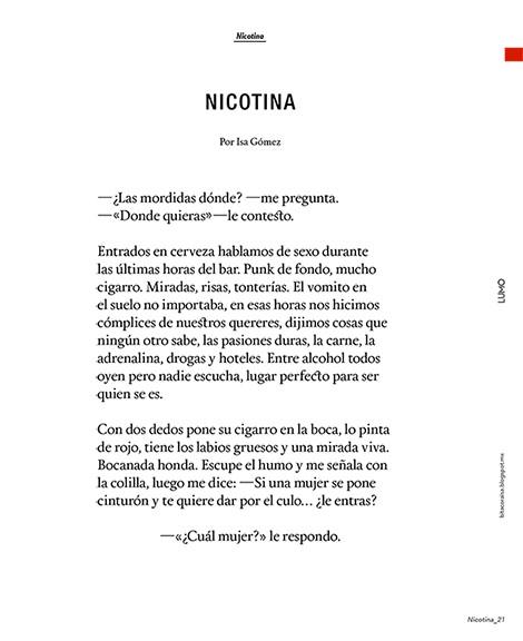 Nicotina. Revista LUMO