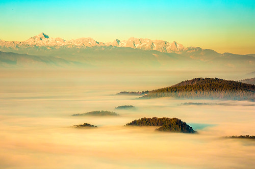 morning mist fog sunrise islands haze view hills explored limbarskagora