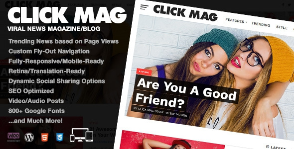 Click Mag v1.03.0 - Viral WordPress News Magazine/Blog Theme