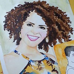 Encomenda da Daniela Cacheada linda!!! #ilustration #watercolor #girl #curlygirl #beautiful #cachoslover #cachosperfeitos #coisasdeumacacheada #cachos #cachosestilosos #todecacho #hairstyle #afro #naturalcurls #instafashion #wavyhair #curlyhairdontcare