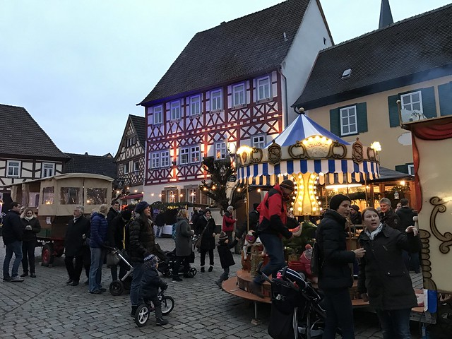 Christmas market in Sassbach, nr Coburg Germany