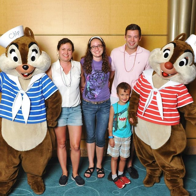 Also saw Chip and Dale! Always a favorite. We danced for our photo.