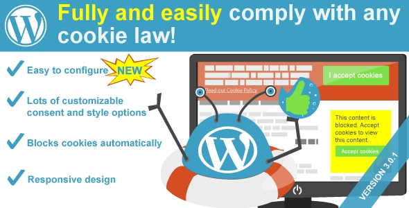 WeePie Cookie Allow v3.0.1 - Easy & Complete Cookie Consent